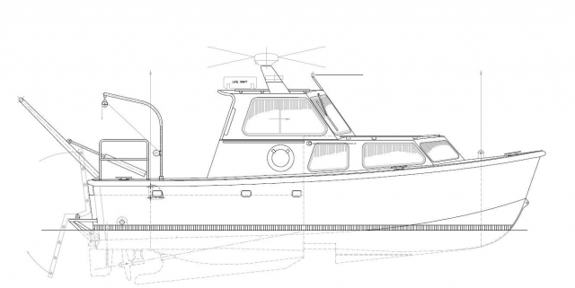 NOAA Research Ship Drawing